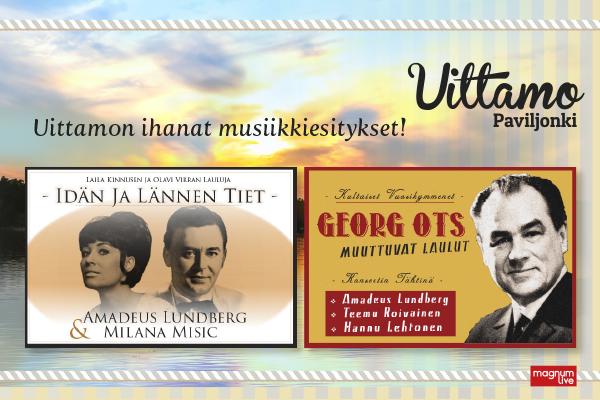 Idän ja Lännen tiet, Laila Kinnunen, Olavi Virta, Amadeus Lundberg, Georg Ots, Milana Misic